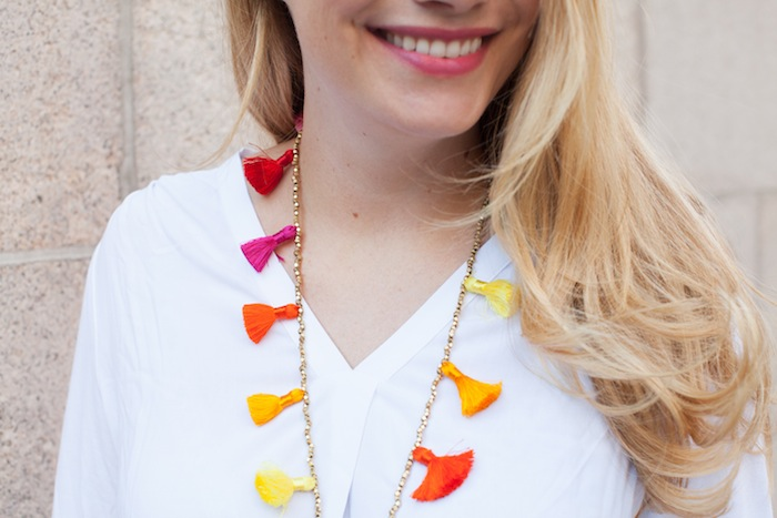 DIY Beaded Tassel Necklace 3