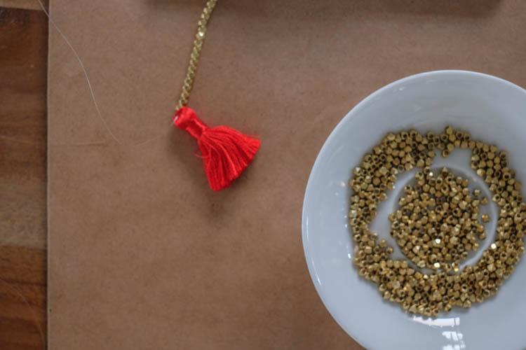 DIY Beaded Tassel Necklace3