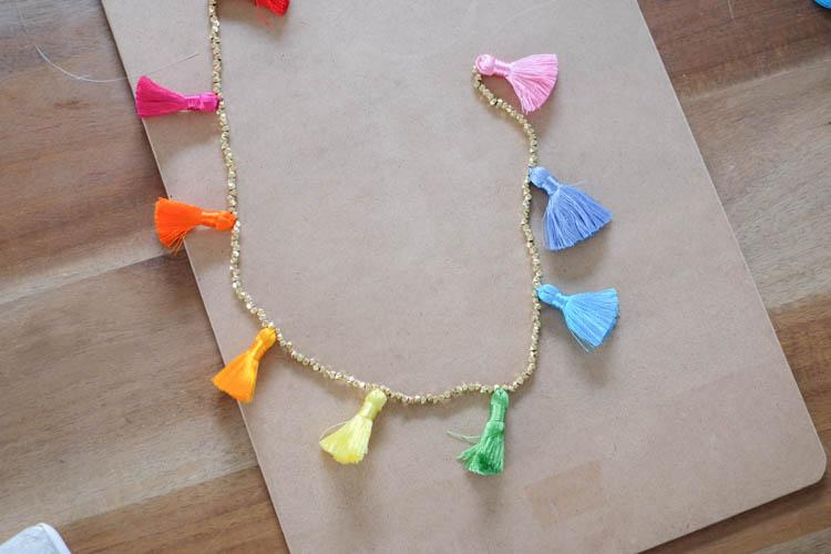 DIY Beaded Tassel Necklace4