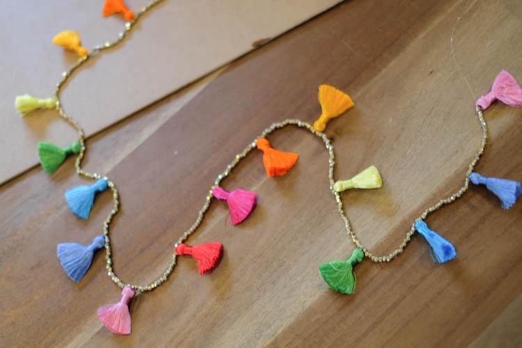 DIY Beaded Tassel Necklace5