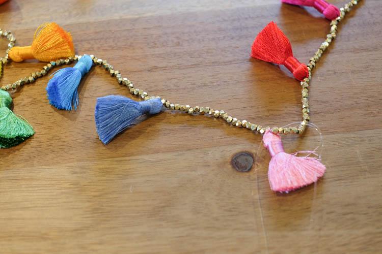 DIY Beaded Tassel Necklace6