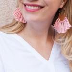 DIY: Brass Fringe Earrings.