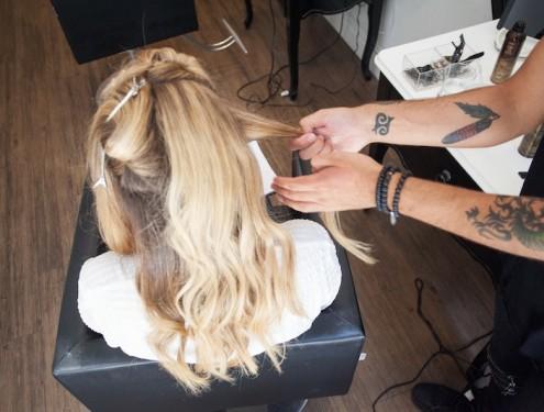 Glam Beach Waves Hair Tutorial - The Stripe.