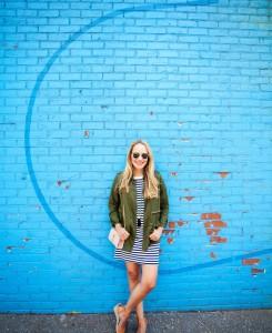 Lou & Grey Striped T-Shirt Dress - The Stripe.