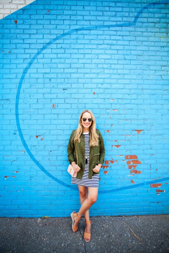 lou & grey striped t-shirt dress - The Stripe