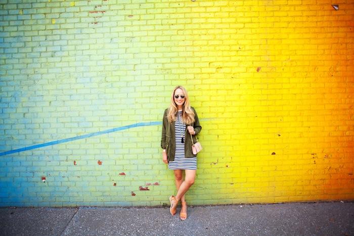 lou & grey striped t-shirt dress 2