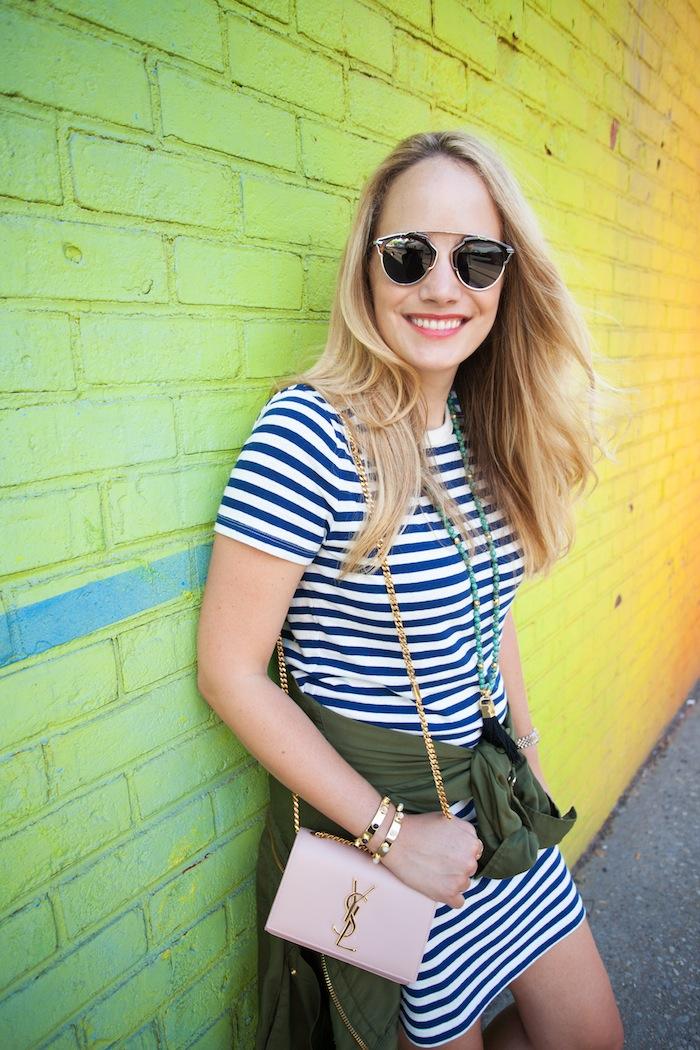 lou & grey striped t-shirt dress 3