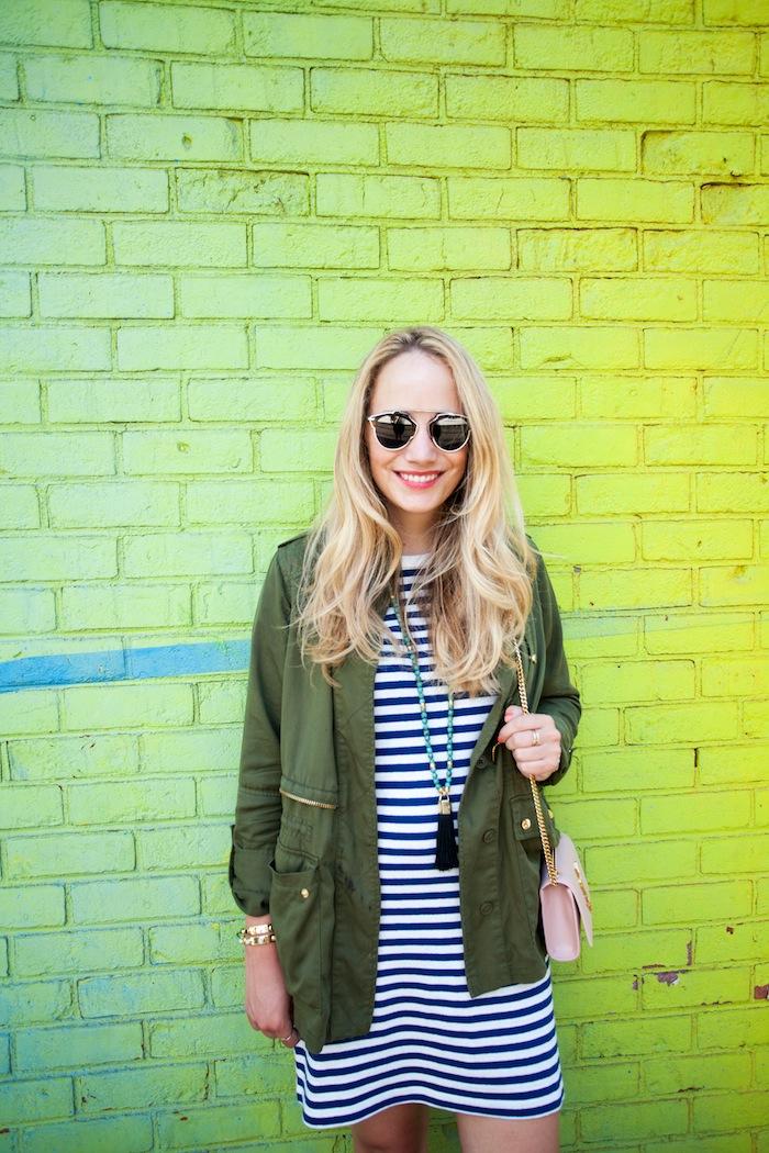 lou & grey striped t-shirt dress 6
