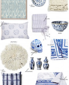 Blue and White Home Decor - The Stripe.
