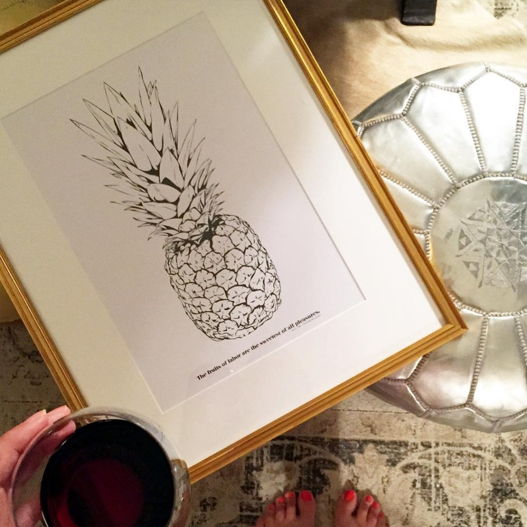 tonights plan wine  a little rearranging! this pineapple printhellip