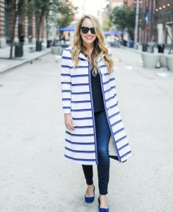 vintage stripe coat doris duke 1