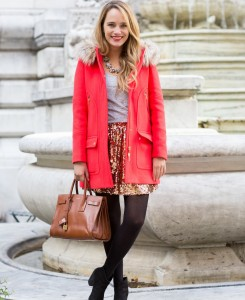 coat // tee // bag // tights // boots