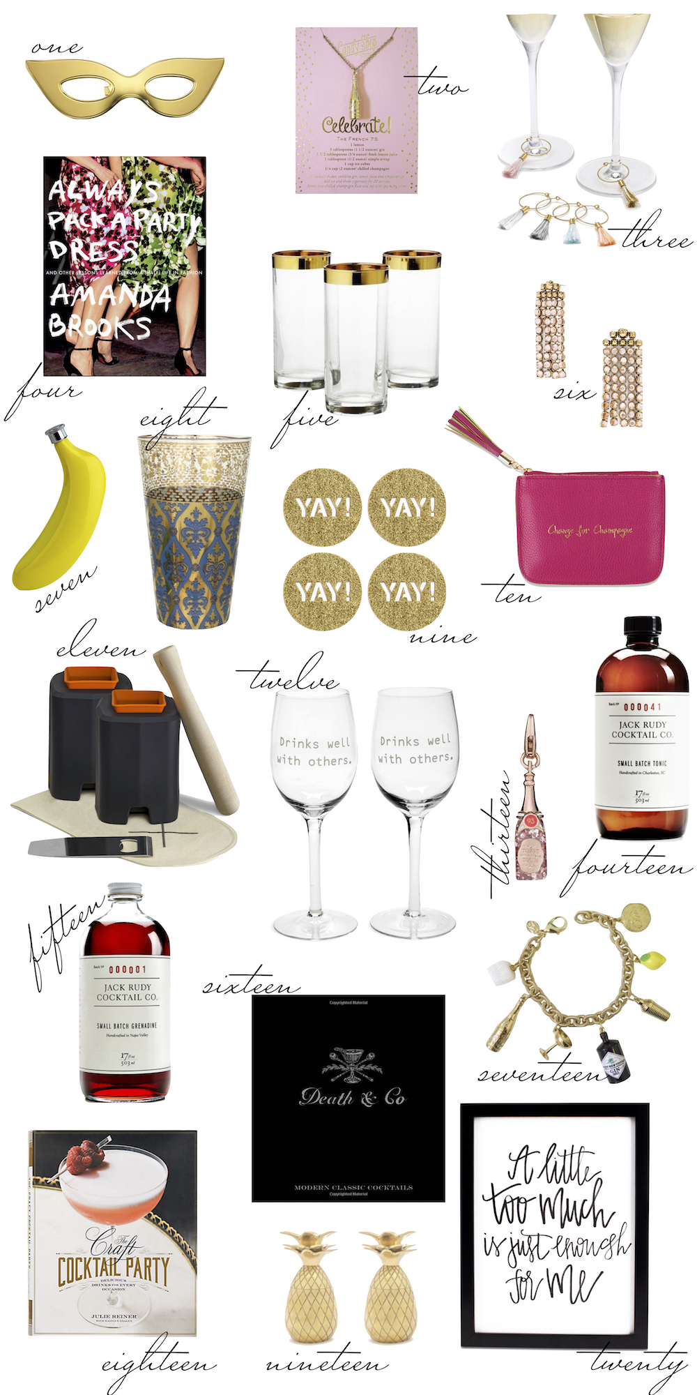 the stripe gift guide- the mixologist