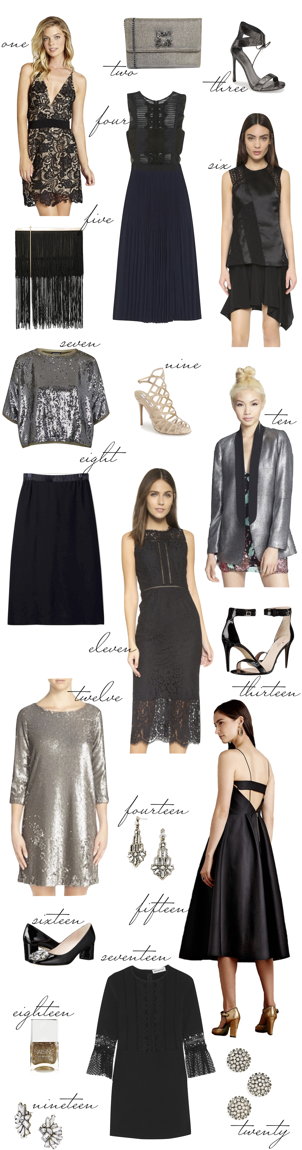 What to Wear on New Years Eve! The Stripe.