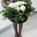 DIY Holiday Floral Arrangement.