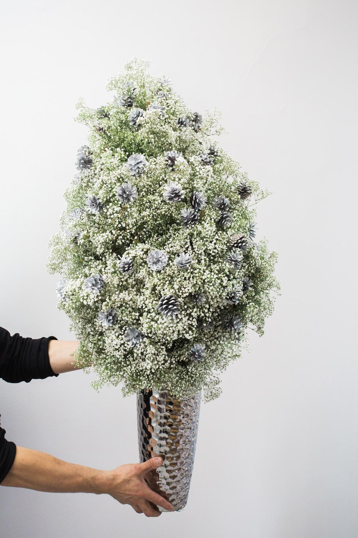 diy pine tree arrangement 14