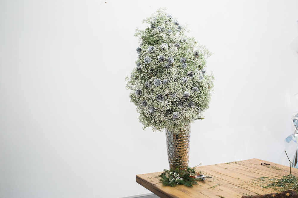 diy pine tree arrangement 15