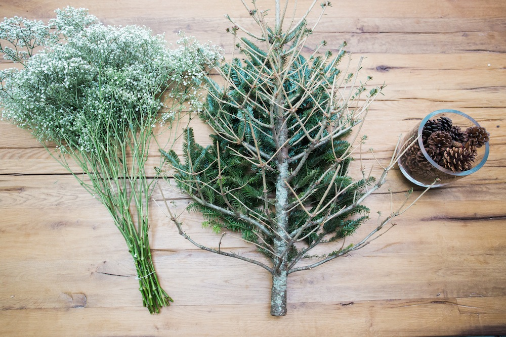diy pine tree arrangement 2