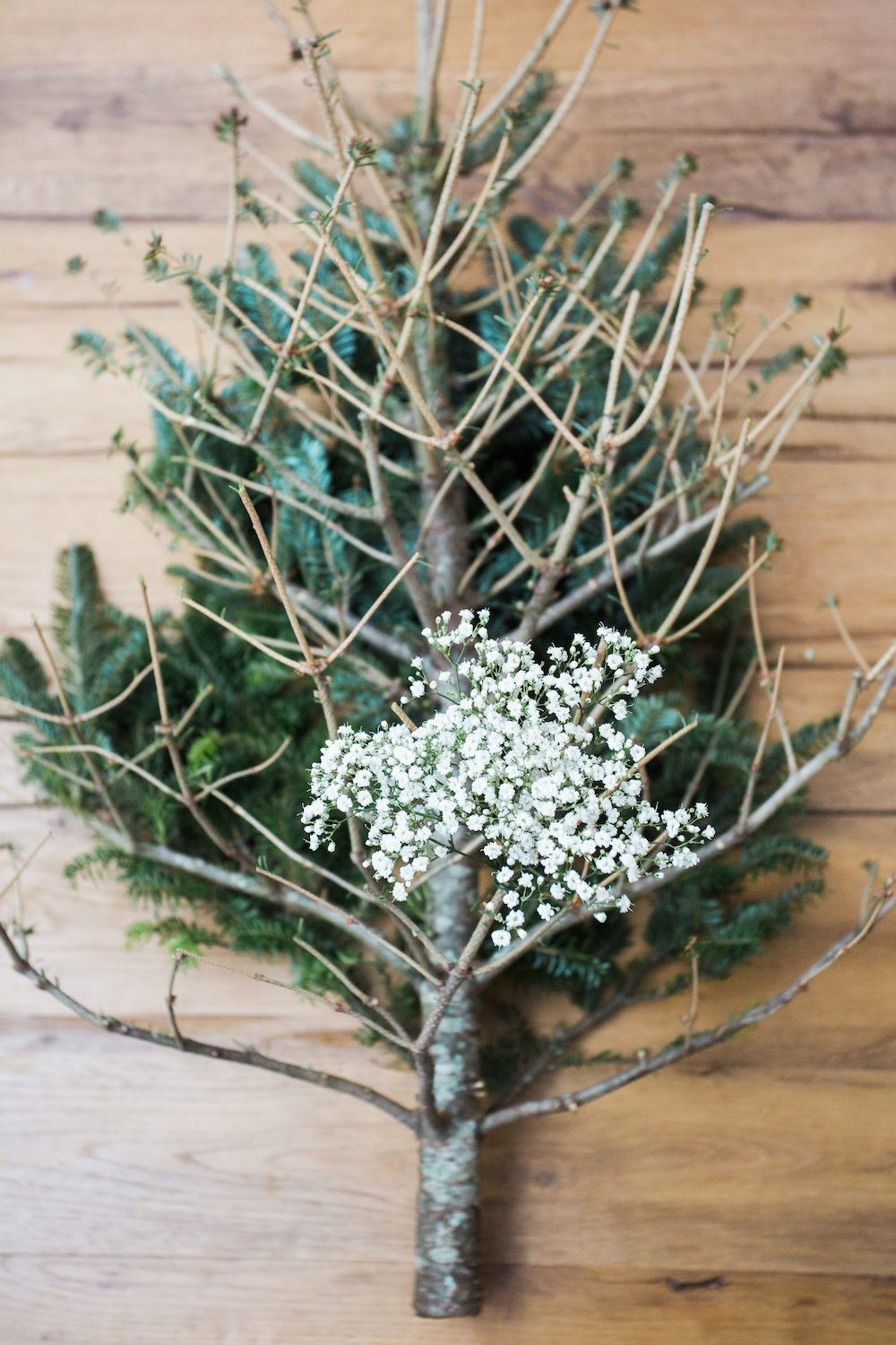diy pine tree arrangement 4