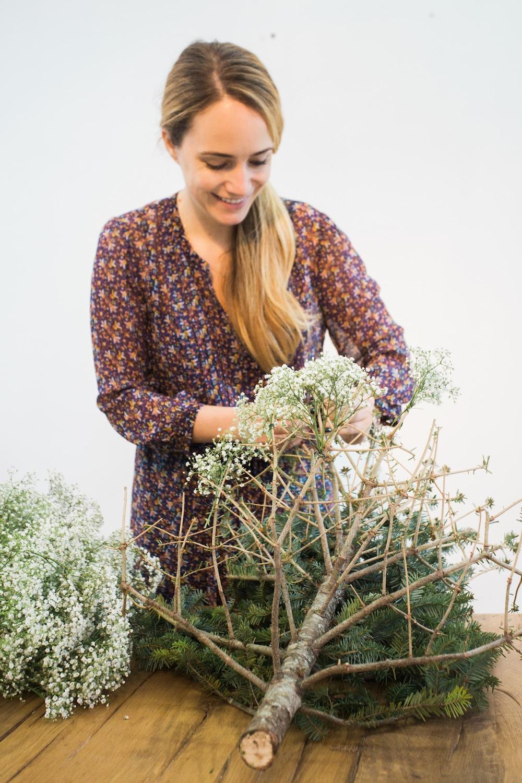 diy pine tree arrangement 6