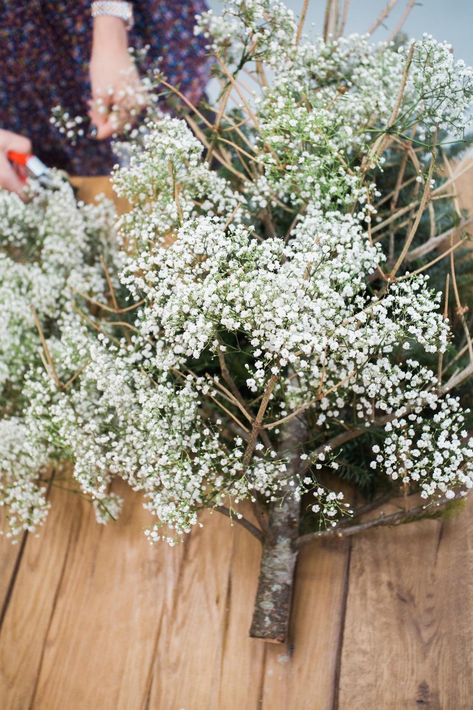 diy pine tree arrangement 7