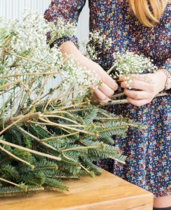 diy pine tree arrangement 9