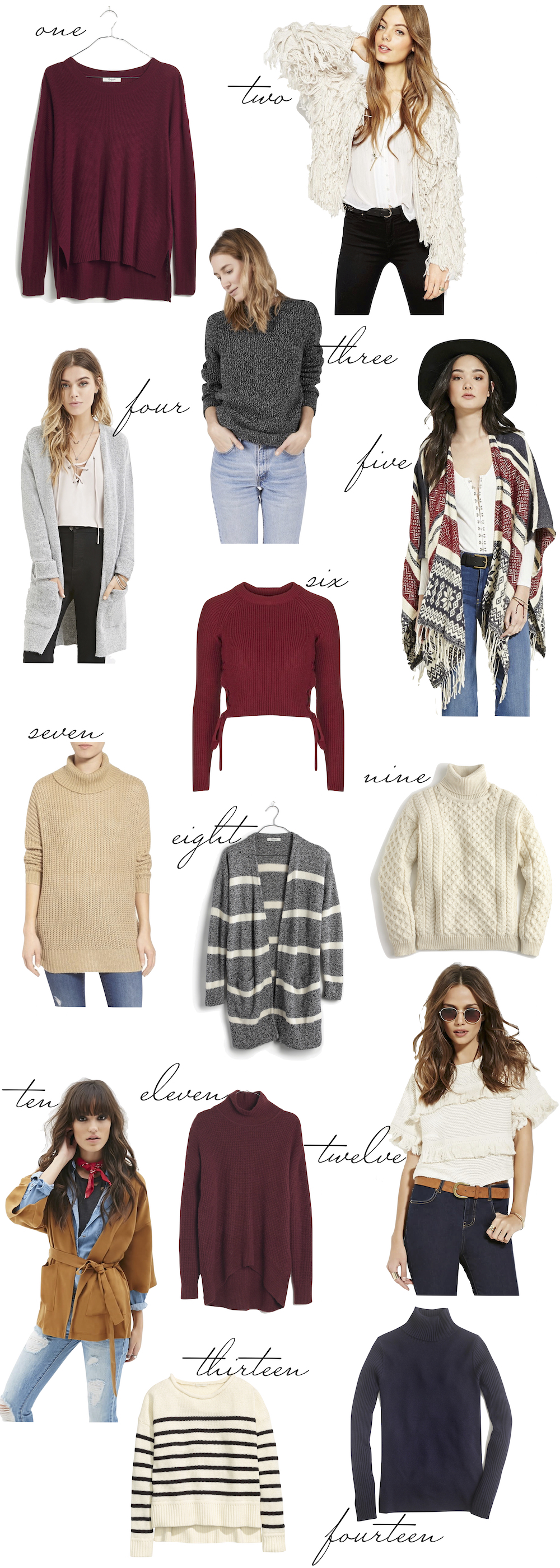 The Best Under $100 Sweaters... by Kelly Burns for The Stripe.