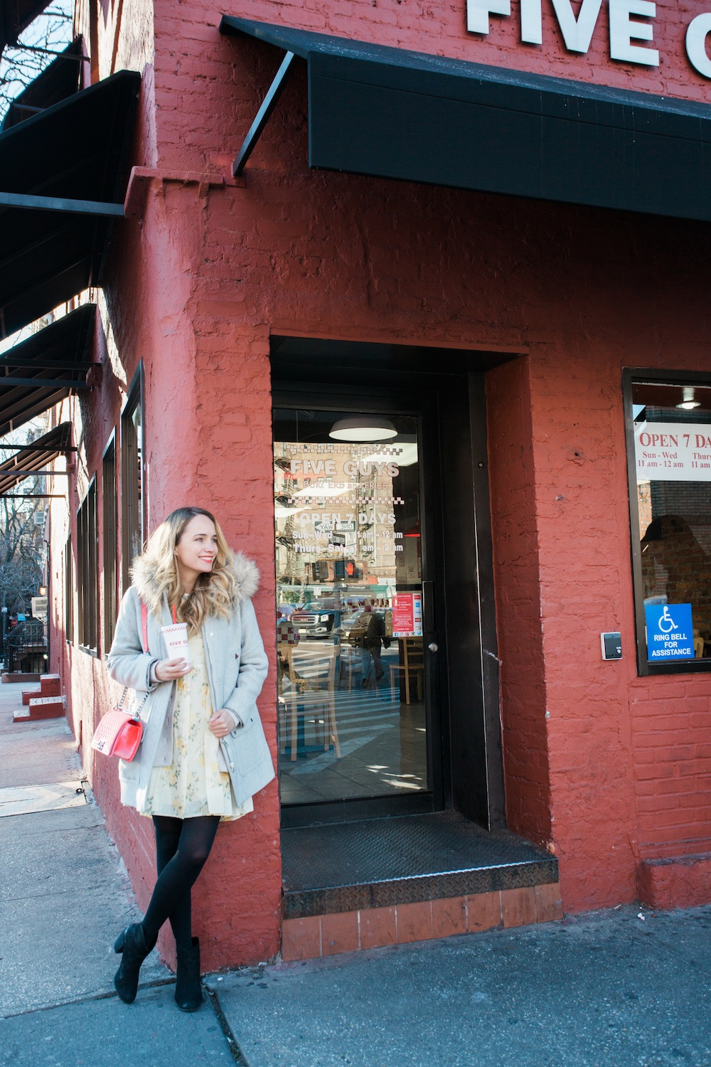 an afternoon at five guys burger joint in new york city - featuring coca-cola freestyle - grace atwood, the stripe.