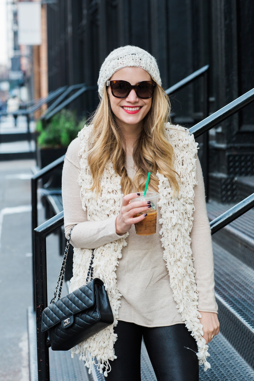 j.crew chateau parka, otte helen sweater, spanx faux leather leggings - grace atwood, the stripe