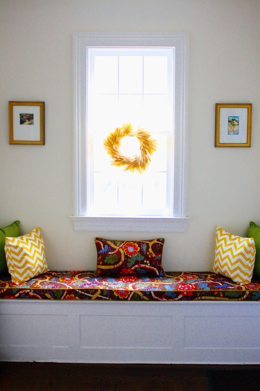 Brass Hill Window Seat in Foyer