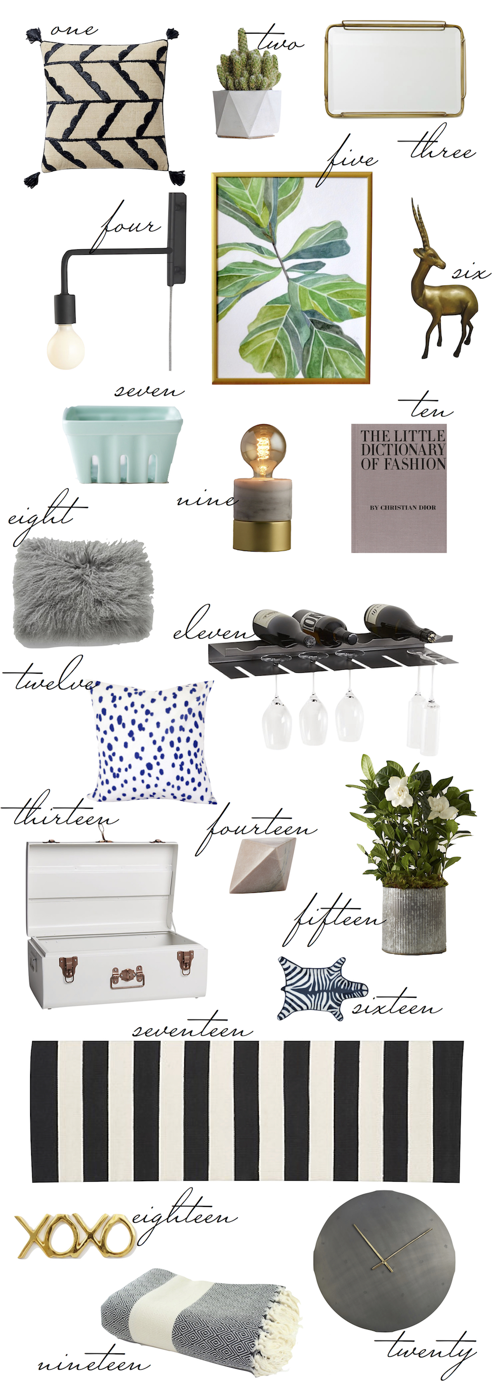 affordable home decor, all under $100! - kelly's chic under $100, kelly burns, the stripe