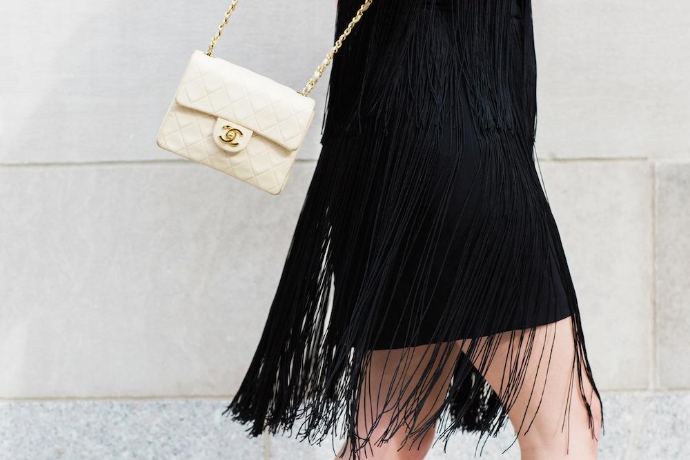 club monaco fringe dress - grace atwood, the stripe
