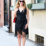Black Fringe Dress.