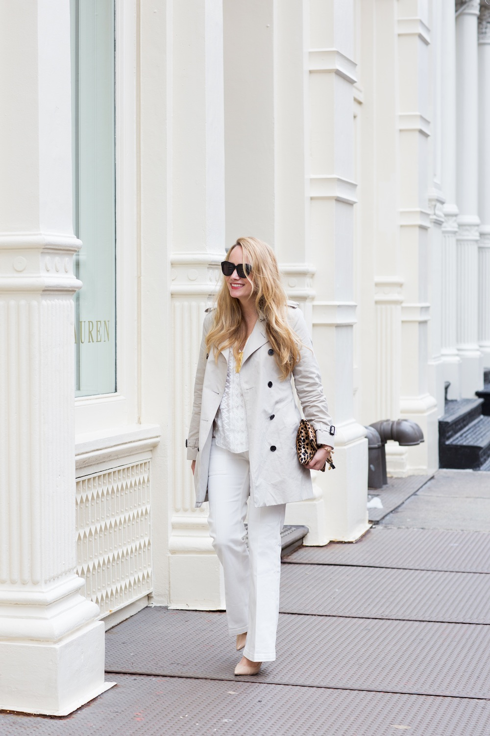 An easy all white look for Spring! Grace Atwood, The Stripe