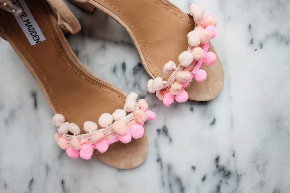 DIY Aquazzura Pom Pom Sandals7