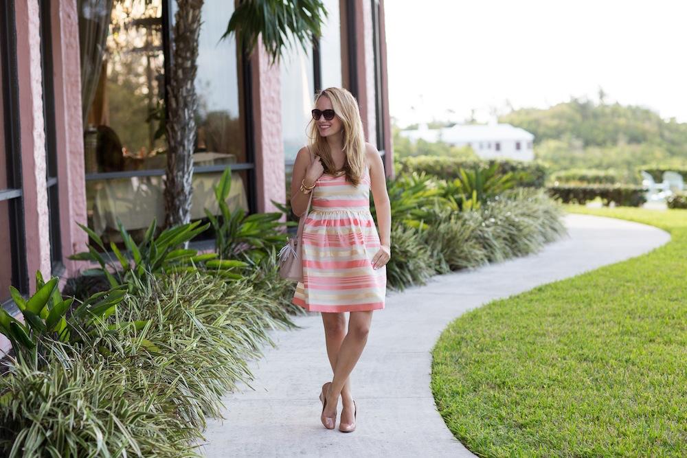 Peach Striped Dress 2