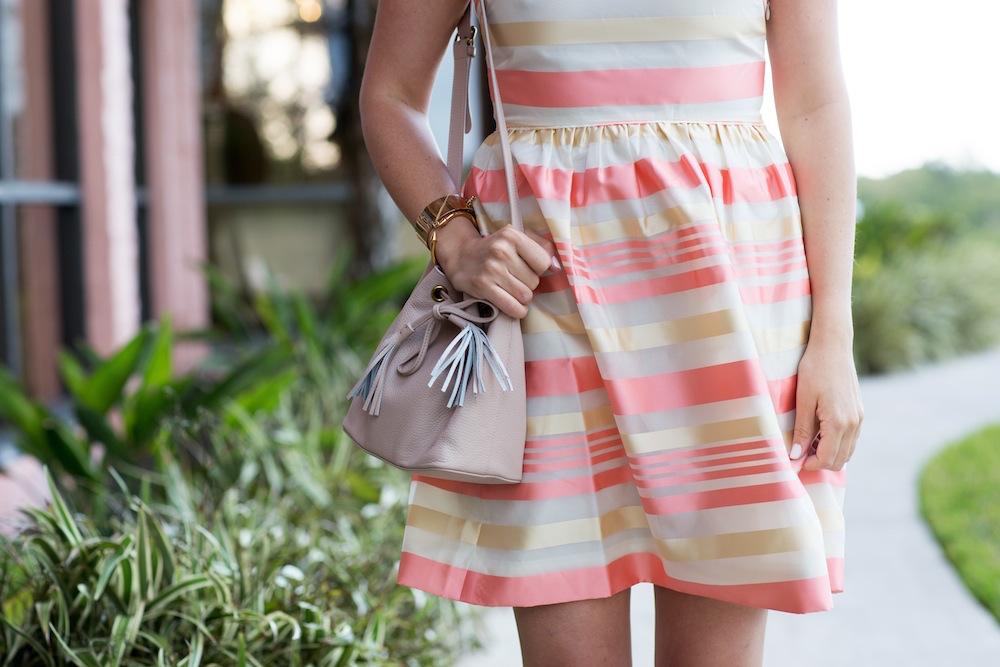 Peach Striped Dress 3