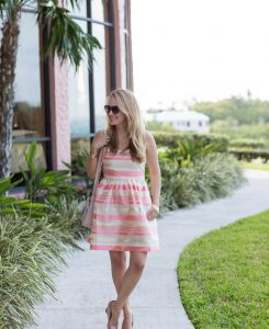 Peach Striped Dress 6