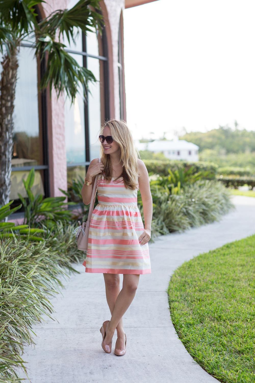 Peach Striped Dress 6