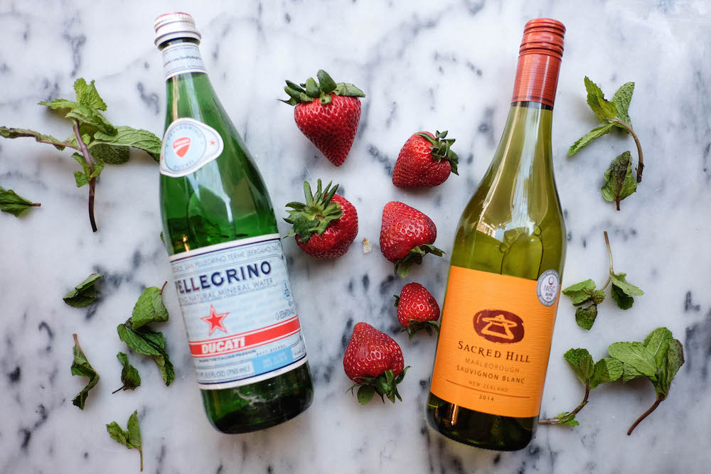 Strawberry White Wine Spritzer Cocktail Recipe - The Stripe Blog1