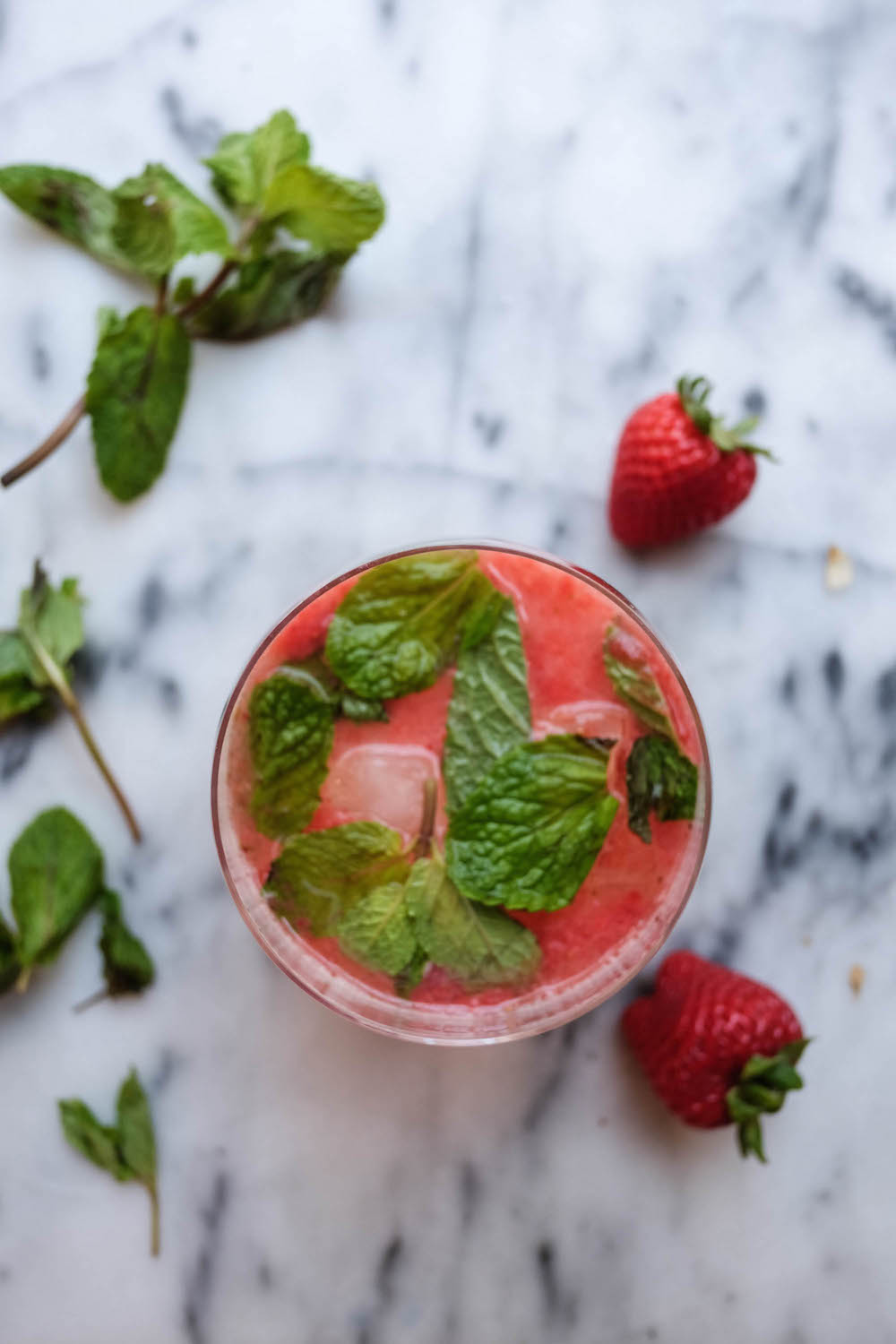 Strawberry White Wine Spritzer Cocktail Recipe - The Stripe Blog12