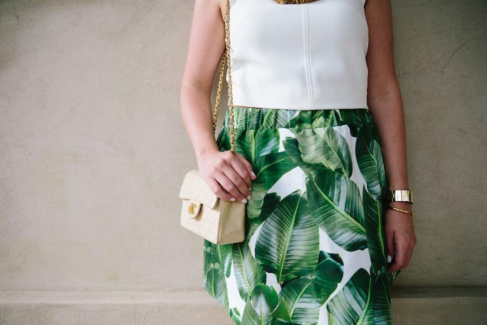 palm leaf print skirt 2