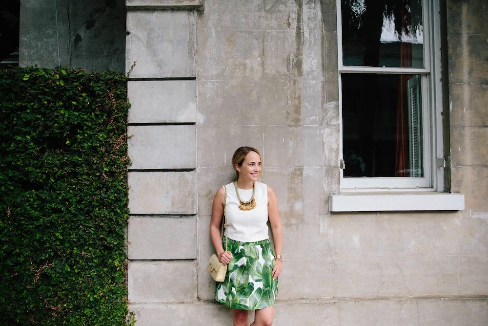 palm leaf print skirt 4