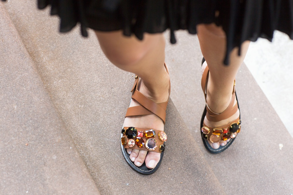 Marni Jeweled Sandals (bought at Hampden Clothing) - Grace Atwood, The Stripe Blog