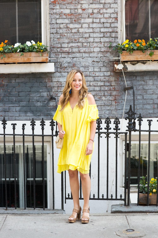 yellow apiece apart dress 1
