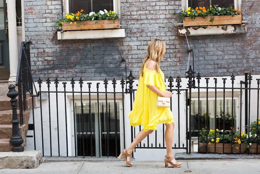 yellow apiece apart dress 2