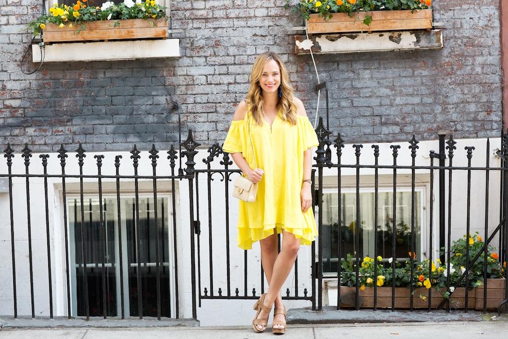 yellow apiece apart dress 5