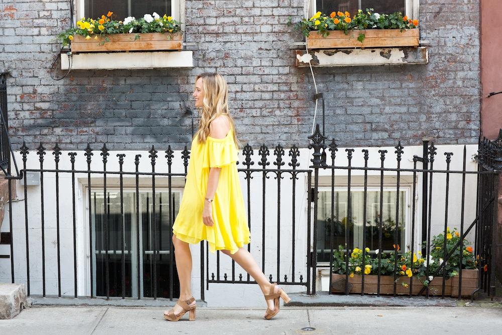 yellow apiece apart dress 7