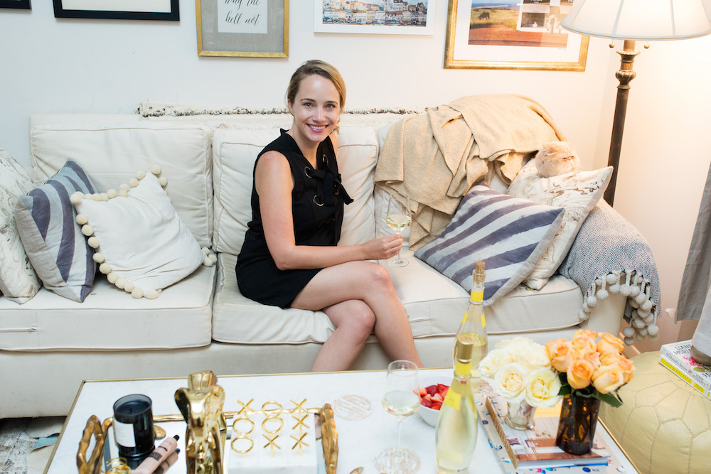 Horchow Marble Coffee Table Makeover - Grace Atwood, The Stripe. Small Space Makeover NYC