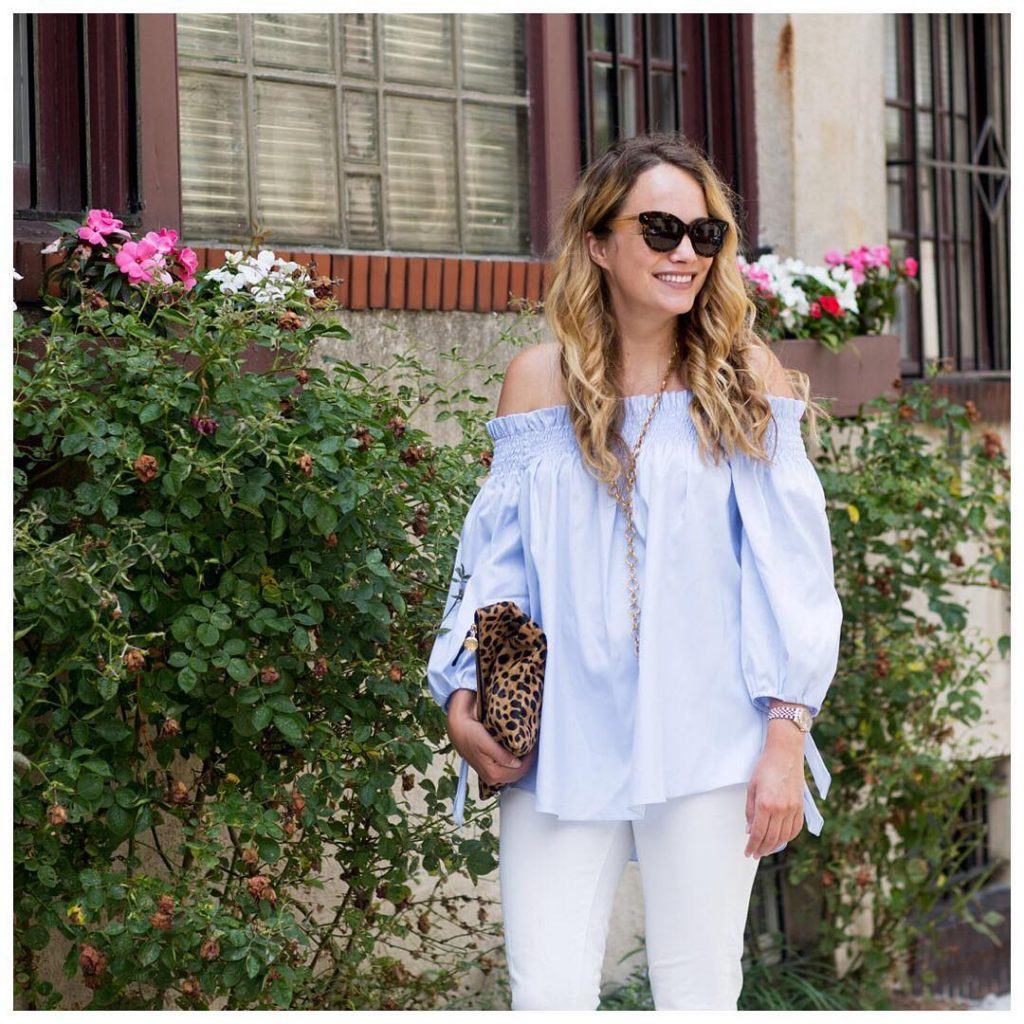 how on earth is tomorrow Friday!? nyc ootd offtheshoulder bluehellip